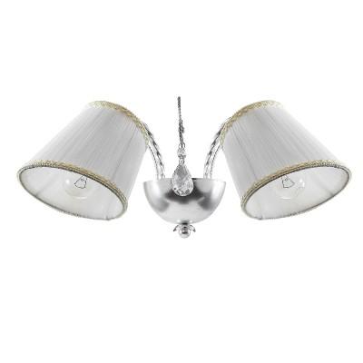 Lightstar ESEDRA 796629 Светильник браКлассические<br><br><br>Тип цоколя: E14<br>Количество ламп: 2<br>Ширина, мм: 420<br>Расстояние от стены, мм: 240<br>Высота, мм: 200<br>MAX мощность ламп, Вт: 40