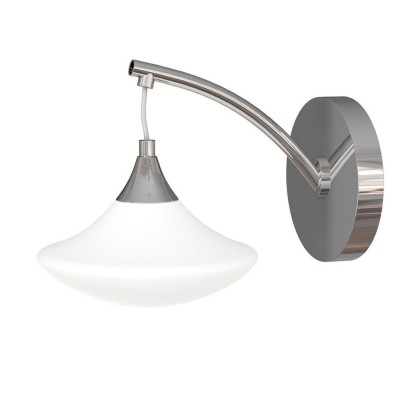 Бра Escada 8001/1A NerinaКлассические<br><br><br>Тип лампы: накаливания / энергосберегающая / светодиодная<br>Тип цоколя: E14<br>Цвет арматуры: серебристый<br>Количество ламп: 1<br>Ширина, мм: 230<br>Выступ, мм: 340<br>Размеры: 245х250х225<br>Высота, мм: 210<br>Поверхность арматуры: глянцевый<br>MAX мощность ламп, Вт: 40
