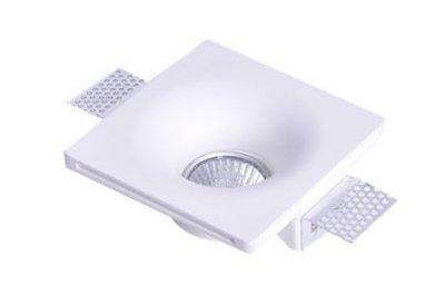 Светильник Lamplandia 8004 GypsumКвадратные<br>Светильник встраиваемый.Выполнен из традиционного материала гипс, с целью предложения новых и нестандартных способов архитектурного освещения. Монтаж данных светильников реализуется в оптимальном слиянии с конструкционными материалами. Результатом является полное встраивание изделий в стену или в потолок и возможность их покраски в желаемый цвет.<br><br>Крепление: потолочный<br>Тип лампы: галогенная<br>Тип цоколя: GX5.3<br>Количество ламп: 1<br>Ширина, мм: 120<br>MAX мощность ламп, Вт: 50W<br>Длина, мм: 120<br>Высота, мм: 45<br>Цвет арматуры: белый