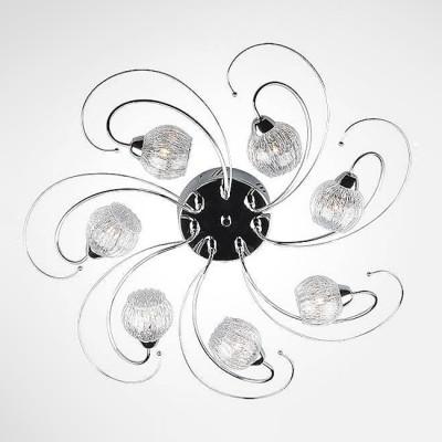 Евросвет 80101/7 хромПотолочные<br><br><br>Установка на натяжной потолок: Да<br>S освещ. до, м2: 7<br>Крепление: Планка<br>Тип лампы: галогенная/LED<br>Тип цоколя: G4<br>Количество ламп: 7<br>MAX мощность ламп, Вт: 20<br>Диаметр, мм мм: 600<br>Высота, мм: 200<br>Цвет арматуры: серебристый хром