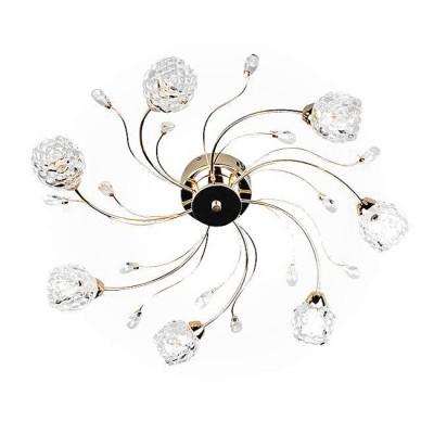 Евросвет 80102/7 золотоПотолочные<br><br><br>Установка на натяжной потолок: Да<br>S освещ. до, м2: 7<br>Крепление: Планка<br>Тип лампы: галогенная/LED<br>Тип цоколя: G4<br>Количество ламп: 7<br>MAX мощность ламп, Вт: 20<br>Диаметр, мм мм: 600<br>Высота, мм: 200<br>Цвет арматуры: золотой