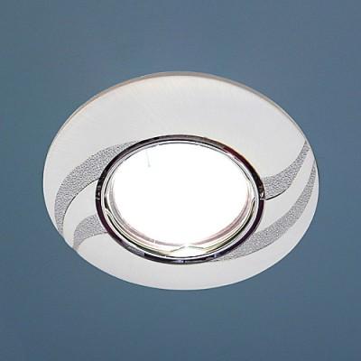 8012A PS/N (перламутр. серебро / никель) Электростандарт Точечный светильникТочечные светильники круглые<br>Лампа: MR16 G5.3 max 50 Вт Диаметр: ? 90 мм Высота внутренней части: ? 20 мм Высота внешней части: ? 4 мм Монтажное отверстие: ? 76 мм Гарантия: 2 года Светильник имеет поворотный механизм.<br><br>S освещ. до, м2: 3<br>Тип лампы: галогенная<br>Тип цоколя: gu5.3<br>Цвет арматуры: серебристый<br>Количество ламп: 1<br>Диаметр, мм мм: 90<br>Диаметр врезного отверстия, мм: 75<br>Оттенок (цвет): перламутр серебро<br>MAX мощность ламп, Вт: 50