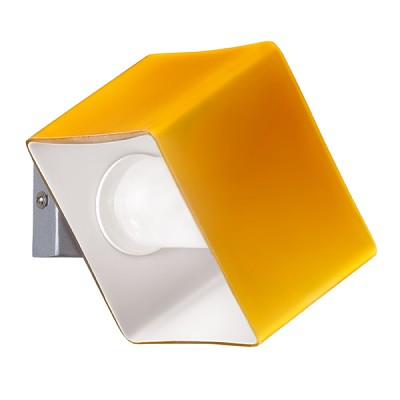 Lightstar XI SIMPLE LIGHT 801613 Светильник настенный браБра хай тек стиля<br><br><br>S освещ. до, м2: 2<br>Крепление: настенное<br>Тип лампы: галогенная / LED-светодиодная<br>Тип цоколя: G9<br>Цвет арматуры: серебристый<br>Количество ламп: 1<br>Ширина, мм: 100<br>Размеры: W 100 H 70<br>Высота, мм: 70<br>Оттенок (цвет): янтарный<br>MAX мощность ламп, Вт: 40