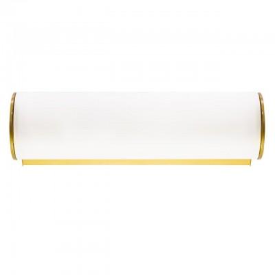 801813 (MB338-1GL) Светильник настенный BLANDA 1х40W E14 БЕЛЫЙ/ЗОЛОТОсовременные бра модерн<br><br><br>Тип лампы: Накаливания / энергосбережения / светодиодная<br>Тип цоколя: E14<br>Цвет арматуры: золотой<br>Количество ламп: 1<br>Ширина, мм: 220<br>Расстояние от стены, мм: 100<br>Высота, мм: 60<br>Поверхность арматуры: глянцевая<br>Оттенок (цвет): белый<br>MAX мощность ламп, Вт: 40