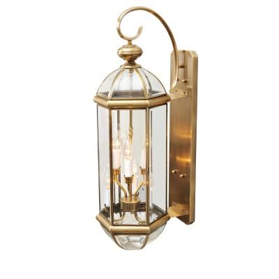Светильник влагозащищенный Chiaro 802020606 МидосНастенные<br>Воплощение стильной идеи освещения в качественном и роскошном обрамлении! Коллекция Мидос достойна особого внимания благодаря латуни, из которой изготовлены основания ярко сияющих светильников. Кристально прозрачное стекло в плафонах имеет фигурное обрамление, которое эффектно бликует на свету. Светильники из коллекции Мидос довершат стильный экстерьер частного дома и расставят  акценты в окружающей ландшафтной обстановке<br><br>S освещ. до, м2: 12<br>Тип лампы: накаливания / энергосбережения / LED-светодиодная<br>Тип цоколя: Е14<br>Количество ламп: 6<br>Ширина, мм: 250<br>MAX мощность ламп, Вт: 40<br>Длина, мм: 800<br>Высота, мм: 310<br>Поверхность арматуры: глянцевый<br>Цвет арматуры: латунь<br>Общая мощность, Вт: 240