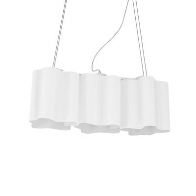 Lightstar Nubi 802130 Люстра подвеснаяподвесные люстры хай тек<br>Коллекция Nubi похожа на воздушные облака. Различная конфигурация светильников позволяет подобрать тот, который будет отлично смотреться именно в вашем уникальном интерьере. Белый дневной свет рассеивается с помощью матового стекла. Лампы спрятаны в глубине плафонов, чтобы световой луч не бил в глаза. Такой светильник будет идеальным дополнением кухни, спальни или детской. <br>Стильная люстра Lightstar 802130 станет украшением любого дома. Эта модель от известного производителя не оставит равнодушным ценителей красивых и оригинальных предметов интерьера. Люстра Lightstar 802130 обеспечит равномерное распределение света по всей комнате. При выборе обратите внимание на характеристики, позволяющие приобрести наиболее подходящую модель. <br>Купить понравившуюся люстру по доступной цене Вы можете в интернет-магазине «Светодом».<br><br>Установка на натяжной потолок: Да<br>S освещ. до, м2: 8<br>Крепление: Планка<br>Тип лампы: накаливания / энергосбережения / LED-светодиодная<br>Тип цоколя: E27<br>Цвет арматуры: серебристый<br>Количество ламп: 3<br>Ширина, мм: 200<br>Размеры основания, мм: 150<br>Размеры: L 540 W 200 H 400-900<br>Длина, мм: 540<br>Высота, мм: 400 - 900<br>Оттенок (цвет): белый<br>MAX мощность ламп, Вт: 40