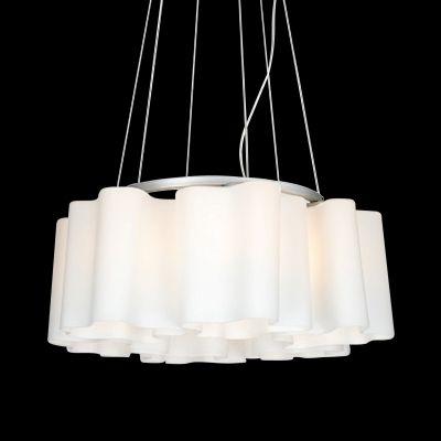 Lightstar SIMPLE LIGHT 802160 Люстра подвеснаяПодвесные<br><br><br>Установка на натяжной потолок: Да<br>S освещ. до, м2: 16<br>Крепление: Планка<br>Тип товара: Люстра подвесная<br>Тип лампы: накаливания / энергосбережения / LED-светодиодная<br>Тип цоколя: E27<br>Количество ламп: 6<br>MAX мощность ламп, Вт: 40<br>Диаметр, мм мм: 540<br>Размеры: D 540 H 400-900<br>Высота, мм: 900<br>Оттенок (цвет): белый<br>Цвет арматуры: серебристый