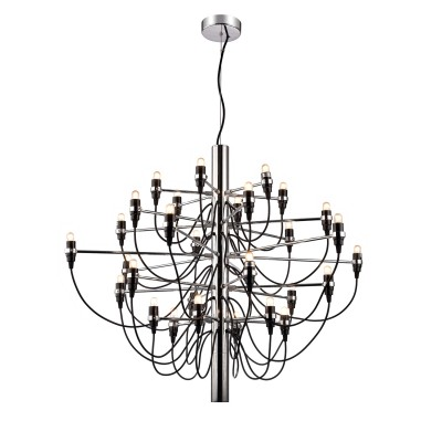 Светильник Divinare 8030/02 LM-50Подвесные<br><br><br>Установка на натяжной потолок: Да<br>S освещ. до, м2: 37<br>Тип лампы: Накаливания / энергосбережения / светодиодная<br>Тип цоколя: E14<br>Количество ламп: 50<br>MAX мощность ламп, Вт: 15W<br>Диаметр, мм мм: 1100<br>Высота, мм: 850 - 1850