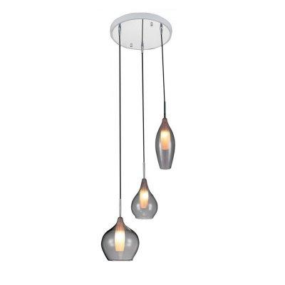 Lightstar SL 803051 Светильник подвеснойТройные<br><br><br>Тип товара: Светильник подвесной<br>Скидка, %: 13<br>Тип лампы: галогенная/LED<br>Тип цоколя: G9<br>Количество ламп: 3<br>MAX мощность ламп, Вт: 25<br>Размеры: D300<br>Оттенок (цвет): прозрочный<br>Цвет арматуры: серебристый хром