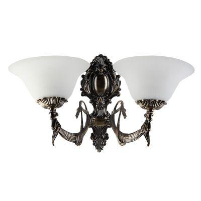 Светильник бра Colosseo 80306/2W LuigiКлассические<br>Настенный светильник Colosseo 80306/2W Luigi бронза станет желанным приобретением для всех ценителей современной классики – он обладает всеми достоинствами, за которые так ценится этот стиль: изящными, плавными линиями, элегантными формами и гармоничными сочетаниями оттенков. Благодаря двум плафонам, площадь освещения составляет до 8 кв.м. Рекомендуем Вам использовать бра в комплекте из нескольких экземпляров и люстрой из той же серии, чтобы сделать комнату совершенной, гармоничной и уютной.<br><br>S освещ. до, м2: 8<br>Крепление: настенное<br>Тип лампы: накаливания / энергосбережения / LED-светодиодная<br>Тип цоколя: E27<br>Цвет арматуры: бронзовый<br>Количество ламп: 2<br>Ширина, мм: 440<br>Расстояние от стены, мм: 250<br>Высота, мм: 280<br>MAX мощность ламп, Вт: 60
