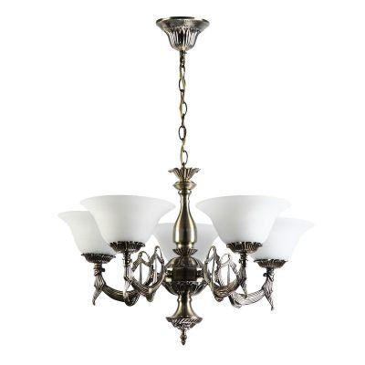 Люстра Colosseo 80306/5 LuigiПодвесные<br>Подвесная люстра Colosseo 80306/5 Luigi бронза – образец элегантной классики, которая украшает любую комнату! Гармония светлых оттенков, изящных и плавных линий сделает светильник главной и любимой деталью Вашего интерьера. Благодаря наличию подвеса, люстра идеально подойдет для комнаты площадью до 20 кв.м. и высоким потолком, создавая освещение «полезного» пространства и зрительно уравновешивая границы помещения. Чтобы дизайн выглядел «профессиональным» и совершенным, рекомендуем дополнить его настенными светильниками из этой же серии.<br><br>Установка на натяжной потолок: Да<br>S освещ. до, м2: 20<br>Крепление: Крюк<br>Тип лампы: накаливания / энергосбережения / LED-светодиодная<br>Тип цоколя: E27<br>Количество ламп: 5<br>MAX мощность ламп, Вт: 60<br>Диаметр, мм мм: 600<br>Высота, мм: 550 - 900<br>Оттенок (цвет): черный<br>Цвет арматуры: бронзовый