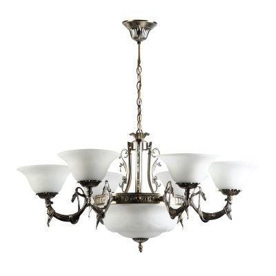 Люстра Colosseo 80306/6+3 Luigiлюстры подвесные классические<br>Подвесная люстра Colosseo 80306/6+3 Luigi бронза станет превосходным дополнением к любому «классическому» интерьеру! Светлые «металлические» и белые оттенки элегантно сочетаются с изящными линиями и декоративными элементами, создавая запоминающийся образ, который внесет в комнату стиль, уют и красоту. Особенно выигрышно светильник будет смотреться в большой (до 36 кв.м.) комнате с высоким потолком, например, в гостиной, зале, кухне-столовой и т.п. Дополнив «световой» дизайн настенными бра из этой же серии, Вы создадите по-настоящему гармоничный и изысканный интерьер!<br><br>Установка на натяжной потолок: Да<br>S освещ. до, м2: 36<br>Крепление: Крюк<br>Тип лампы: накаливания / энергосбережения / LED-светодиодная<br>Тип цоколя: E27<br>Цвет арматуры: бронзовый<br>Количество ламп: 9<br>Ширина, мм: 800<br>Высота, мм: 750 - 1000<br>MAX мощность ламп, Вт: 60