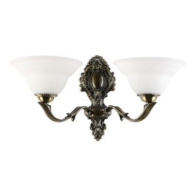 Светильник бра Colosseo 80307/2W DomenicoКлассика<br>Настенный светильник Colosseo 80307/2W Domenico бронза – превосходный образец современной классики – он обладает всеми достоинствами, за которые так ценится этот стиль: изящными, плавными линиями, элегантными формами и благородным сочетанием бронзового и матового белого оттенков. Благодаря двум плафонам, направленным в разные стороны, площадь освещения составляет до 8 кв.м. Рекомендуем Вам использовать бра в комплекте из нескольких экземпляров и люстрой из той же серии, чтобы сделать комнату совершенной, гармоничной и уютной.<br><br>S освещ. до, м2: 8<br>Тип лампы: накаливания / энергосбережения / LED-светодиодная<br>Тип цоколя: E27<br>Количество ламп: 2<br>Ширина, мм: 500<br>MAX мощность ламп, Вт: 60<br>Расстояние от стены, мм: 270<br>Высота, мм: 280<br>Цвет арматуры: бронзовый