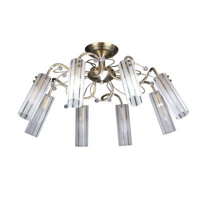 Люстра Colosseo 80336/8CПотолочные<br>Великолепная потолочная люстра Colosseo 80336/8C не оставит равнодушным ни одного ценителя «природных» мотивов и «цветочных» элементов в дизайне интерьера! Каждый элемент в ней превосходно сочетается с остальными, изогнутые линии крепления чередуются с прямыми линиями в рисунке плафонов, благородный «бронзовый» оттенок плавно переходит в нежный и «мягкий» белый. Восемь плафонов создают направленное освещение комнаты площадью до 32 кв.м, поэтому лучше всего люстра будет смотреться в холле, гостиной или зале – комнатах с большим пространством, предназначенных для принятия множества человек одновременно.<br><br>Установка на натяжной потолок: Да<br>S освещ. до, м2: 32<br>Крепление: Планка<br>Тип лампы: накаливания / энергосбережения / LED-светодиодная<br>Тип цоколя: E14<br>Количество ламп: 8<br>MAX мощность ламп, Вт: 60<br>Диаметр, мм мм: 660<br>Высота, мм: 340<br>Цвет арматуры: бронзовый