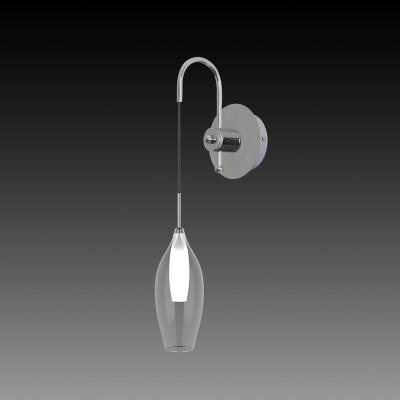Lightstar PENTOLA 803521 Светильник настенный браСовременные<br><br><br>Тип лампы: галогенная/LED<br>Тип цоколя: G9<br>Количество ламп: 1<br>Ширина, мм: 210<br>MAX мощность ламп, Вт: 25<br>Длина, мм: 130<br>Высота, мм: 380 - 530<br>Цвет арматуры: серебристый