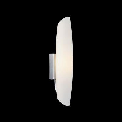 Lightstar Simple Light 803600 Светильник настенный браХай-тек<br><br><br>S освещ. до, м2: 2<br>Тип цоколя: E14<br>Количество ламп: 1<br>Ширина, мм: 100<br>MAX мощность ламп, Вт: 40<br>Размеры: W 100 H 350<br>Высота, мм: 350<br>Оттенок (цвет): белый<br>Цвет арматуры: серебристый