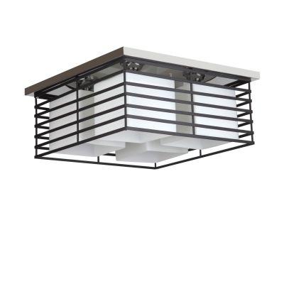 Люстра Colosseo 80362/4CПотолочные<br>Светильник Colosseo 80362/4C украсит собой любую комнату с невысоким потолком! Контрастное сочетание белого и черного цвета, простая, не «вычурная» квадратная форма конструкции зрительно увеличат площадь помещения и уравновесят пространство. Минимализм люстры делает ее идеальной для любого современного интерьера – от «хай-тека» до «рустики».<br><br>Установка на натяжной потолок: Ограничено<br>S освещ. до, м2: 16<br>Крепление: Планка<br>Тип лампы: накаливания / энергосбережения / LED-светодиодная<br>Тип цоколя: E27<br>Количество ламп: 4<br>Ширина, мм: 450<br>MAX мощность ламп, Вт: 60<br>Длина, мм: 450<br>Высота, мм: 200<br>Оттенок (цвет): черный<br>Цвет арматуры: черный