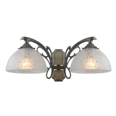 Светильник Colosseo 80373/2WКлассические<br><br><br>S освещ. до, м2: 8<br>Тип лампы: накаливания / энергосбережения / LED-светодиодная<br>Тип цоколя: E27<br>Цвет арматуры: бронзовый<br>Количество ламп: 2<br>Ширина, мм: 370<br>Расстояние от стены, мм: 230<br>Высота, мм: 250<br>MAX мощность ламп, Вт: 60