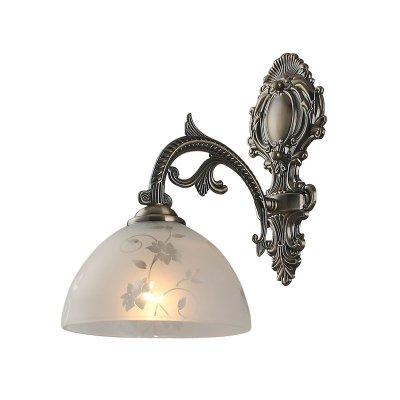 Светильник Colosseo 80374/1WКлассика<br><br><br>S освещ. до, м2: 4<br>Тип товара: Светильник настенный бра<br>Скидка, %: 15<br>Тип лампы: накаливания / энергосбережения / LED-светодиодная<br>Тип цоколя: E27<br>Количество ламп: 1<br>Ширина, мм: 180<br>MAX мощность ламп, Вт: 60<br>Расстояние от стены, мм: 260<br>Высота, мм: 330<br>Цвет арматуры: бронзовый
