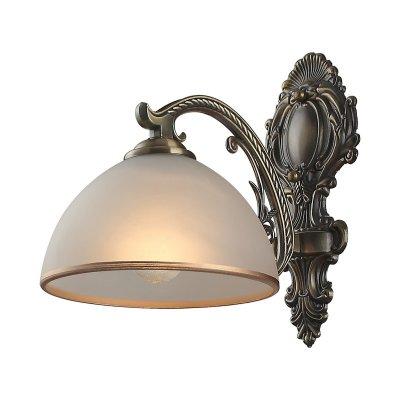 Светильник Colosseo 80375/1WКлассика<br><br><br>S освещ. до, м2: 4<br>Тип лампы: накаливания / энергосбережения / LED-светодиодная<br>Тип цоколя: E27<br>Количество ламп: 1<br>Ширина, мм: 180<br>MAX мощность ламп, Вт: 60<br>Расстояние от стены, мм: 270<br>Высота, мм: 270<br>Цвет арматуры: бронзовый