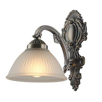 Светильник Colosseo 80376/1WКлассика<br><br><br>S освещ. до, м2: 4<br>Тип лампы: накаливани / нергосбережени / LED-светодиодна<br>Тип цокол: E27<br>Количество ламп: 1<br>Ширина, мм: 170<br>MAX мощность ламп, Вт: 60<br>Расстоние от стены, мм: 270<br>Высота, мм: 250<br>Цвет арматуры: бронзовый
