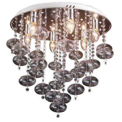 Люстра Colosseo 80382/6Потолочные<br>Сделать Ваш интерьер современным, эффектным и запоминающимся поможет потолочная люстра Colosseo 80382/6 MARCELLA! Она предназначена для ценителей оригинальных и стильных вещей, которые «задают тон» и делают комнату яркой, красивой и неповторимой. «Изюминка» этого светильника заключается в отсутствии привычного плафона, который дизайнеры заменили на металлические подвески разной длины, заканчивающиеся шарами. Благодаря этому освещение получается более насыщенным и направленным, а конструкция выглядит «легкой» и зрительно увеличивает высоту потолка. Кроме того, Вы можете управлять светом дистанционно, не вставая с кровати или кресла, при помощи специального пульта управления, что очень удобно и экономит Ваше время и силы.<br><br>Установка на натяжной потолок: Да<br>S освещ. до, м2: 24<br>Крепление: Планка<br>Тип товара: Люстра<br>Скидка, %: 65<br>Тип лампы: накаливания / энергосбережения / LED-светодиодная<br>Тип цоколя: E14<br>Количество ламп: 6<br>MAX мощность ламп, Вт: 60<br>Диаметр, мм мм: 500<br>Высота, мм: 520<br>Цвет арматуры: серебристый