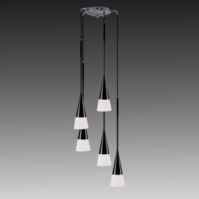 Lightstar Simple Light L 804257 Люстра подвеснаяПодвесные<br>Компания «Светодом» предлагает широкий ассортимент люстр от известных производителей. Представленные в нашем каталоге товары выполнены из современных материалов и обладают отличным качеством. Благодаря широкому ассортименту Вы сможете найти у нас люстру под любой интерьер. Мы предлагаем как классические варианты, так и современные модели, отличающиеся лаконичностью и простотой форм.  Стильная люстра Lightstar 804257 станет украшением любого дома. Эта модель от известного производителя не оставит равнодушным ценителей красивых и оригинальных предметов интерьера. Люстра Lightstar 804257 обеспечит равномерное распределение света по всей комнате. При выборе обратите внимание на характеристики, позволяющие приобрести наиболее подходящую модель. Купить понравившуюся люстру по доступной цене Вы можете в интернет-магазине «Светодом».<br><br>Установка на натяжной потолок: Да<br>S освещ. до, м2: 20<br>Крепление: Планка<br>Тип цоколя: E14<br>Количество ламп: 5<br>MAX мощность ламп, Вт: 40<br>Диаметр, мм мм: 310<br>Размеры: W 310 H 2100<br>Высота, мм: 2100<br>Цвет арматуры: черный