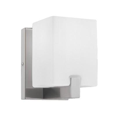 Светильник настенный бра Lightstar 805610 SIMPLE LIGHTБра хай тек стиля<br>Распродажа остатков 2 штуки!<br><br>S освещ. до, м2: 2<br>Тип лампы: накаливания / энергосбережения / LED-светодиодная<br>Тип цоколя: E14<br>Цвет арматуры: серый<br>Количество ламп: 1<br>Ширина, мм: 100<br>Размеры: W 100 H 150<br>Расстояние от стены, мм: 120<br>Высота, мм: 150<br>Оттенок (цвет): белый<br>MAX мощность ламп, Вт: 40