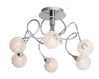 Люстра Brilliant G80586/15 BelisПотолочные<br>Зачастую мы ищем идеальное освещение для своего дома и уделяем этому достаточно много времени. Так, например, если нам нужен светильник с количеством ламп - 6 и цвет плафонов должен быть - разноцветный: неокрашенный, хром, а материал плафонов только стекло, металл! То нам, как вариант, подойдет модель - люстра Brilliant G80586/15.<br><br>Установка на натяжной потолок: Да<br>S освещ. до, м2: 16<br>Крепление: Планка<br>Тип товара: Люстра<br>Тип лампы: галогенная / LED-светодиодная<br>Тип цоколя: G9<br>Количество ламп: 6<br>MAX мощность ламп, Вт: 40<br>Диаметр, мм мм: 500<br>Высота, мм: 310<br>Цвет арматуры: серебристый