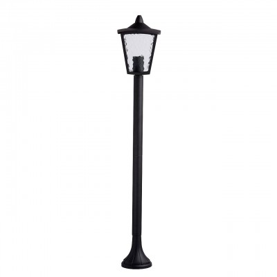 Mw light 806040501 СветильникОдиночные фонари<br><br><br>Тип лампы: Накаливания / энергосбережения / светодиодная<br>Тип цоколя: E27<br>Количество ламп: 1<br>MAX мощность ламп, Вт: 60<br>Диаметр, мм мм: 180<br>Высота, мм: 1050