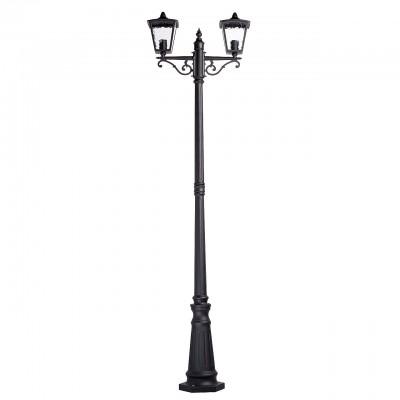 Mw light 806040602 СветильникБольшие фонари<br><br><br>Тип лампы: Накаливания / энергосбережения / светодиодная<br>Тип цоколя: E27<br>Цвет арматуры: черный<br>Количество ламп: 2<br>Ширина, мм: 260<br>Длина, мм: 600<br>Высота, мм: 2150<br>MAX мощность ламп, Вт: 60