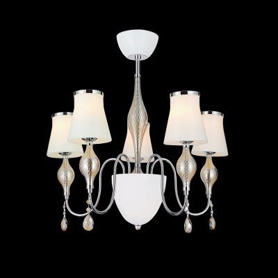 Lightstar I SIMPLE LIGHT 806050 Люстра подвеснаяПодвесные<br><br><br>Установка на натяжной потолок: Да<br>S освещ. до, м2: 13<br>Крепление: Крюк<br>Тип товара: Люстра подвесная<br>Тип лампы: накаливания / энергосбережения / LED-светодиодная<br>Тип цоколя: E14<br>Количество ламп: 5<br>MAX мощность ламп, Вт: 40<br>Диаметр, мм мм: 650<br>Размеры: H 680 D 650<br>Высота, мм: 680<br>Оттенок (цвет): белый<br>Цвет арматуры: серебристый