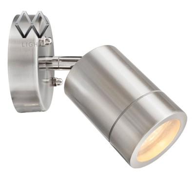 Светильник влагозащищенный Mw light 807020701 МеркурийОдиночные<br>Описание модели 807020701: Стильный миниатюрный светильник из коллекции «Меркурий» украсит и дополнит обстановку экстерьера загородного дома. Его основание сделано из стали – символа надежности и качества и дополнено плафоном из прочного стекла. Точная цилиндрическая форма, идеальная для уличных светильников цветовая гамма, качественные материалы – неоспоримые достоинства этой модели. Помимо того, светильник имеет высокий уровень  IP защиты от влаги и пыли. Он идеален для зональной подсветки газонов, дорожек, крыльца и ступеней. Рекомендуемая площадь освещения порядка 5 кв.м.<br><br>S освещ. до, м2: 2<br>Тип лампы: LED - светодиодная<br>Тип цоколя: GU10<br>Количество ламп: 1<br>Ширина, мм: 90<br>MAX мощность ламп, Вт: 21 LED<br>Длина, мм: 150<br>Высота, мм: 160<br>Цвет арматуры: серебристый