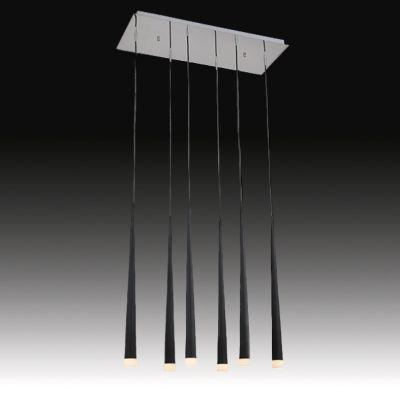 Lightstar SIMPLE LIGHT 807067 Люстра подвеснаяПодвесные<br>Компания «Светодом» предлагает широкий ассортимент люстр от известных производителей. Представленные в нашем каталоге товары выполнены из современных материалов и обладают отличным качеством. Благодаря широкому ассортименту Вы сможете найти у нас люстру под любой интерьер. Мы предлагаем как классические варианты, так и современные модели, отличающиеся лаконичностью и простотой форм.  Стильная люстра Lightstar 807067 станет украшением любого дома. Эта модель от известного производителя не оставит равнодушным ценителей красивых и оригинальных предметов интерьера. Люстра Lightstar 807067 обеспечит равномерное распределение света по всей комнате. При выборе обратите внимание на характеристики, позволяющие приобрести наиболее подходящую модель. Купить понравившуюся люстру по доступной цене Вы можете в интернет-магазине «Светодом».<br><br>Установка на натяжной потолок: Да<br>S освещ. до, м2: 16<br>Крепление: Планка<br>Тип лампы: галогенная / LED-светодиодная<br>Тип цоколя: G9<br>Количество ламп: 6<br>Ширина, мм: 700<br>MAX мощность ламп, Вт: 40<br>Размеры: L 700 W 300 H 1200<br>Высота, мм: 1300<br>Оттенок (цвет): черный<br>Цвет арматуры: серебристый