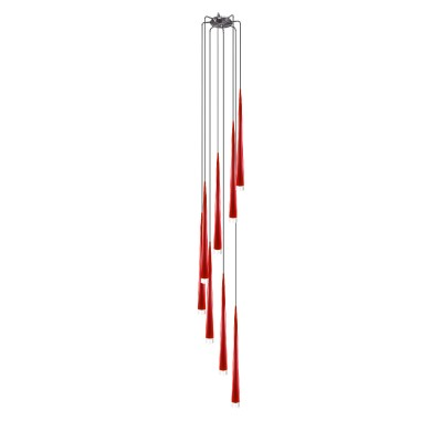 Lightstar PUNTO 807082 Светильник подвесной красныйПодвесные<br>Компания «Светодом» предлагает широкий ассортимент люстр от известных производителей. Представленные в нашем каталоге товары выполнены из современных материалов и обладают отличным качеством. Благодаря широкому ассортименту Вы сможете найти у нас люстру под любой интерьер. Мы предлагаем как классические варианты, так и современные модели, отличающиеся лаконичностью и простотой форм. <br>Стильная люстра Lightstar 807082 станет украшением любого дома. Эта модель от известного производителя не оставит равнодушным ценителей красивых и оригинальных предметов интерьера. Люстра Lightstar 807082 обеспечит равномерное распределение света по всей комнате. При выборе обратите внимание на характеристики, позволяющие приобрести наиболее подходящую модель. <br>Купить понравившуюся люстру по доступной цене Вы можете в интернет-магазине «Светодом».<br><br>Установка на натяжной потолок: Да<br>S освещ. до, м2: 16<br>Крепление: Планка<br>Тип лампы: галогенная/LED<br>Тип цоколя: G9<br>Цвет арматуры: серебристый<br>Количество ламп: 8<br>Диаметр, мм мм: 350<br>Высота, мм: 720 - 2250<br>Оттенок (цвет): Красный<br>MAX мощность ламп, Вт: 40