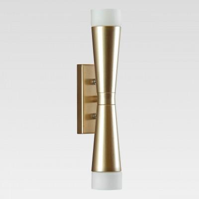 Lightstar PUNTO 807623 Светильник настенный браСовременные<br><br><br>Тип лампы: галогенная/LED<br>Тип цоколя: G9<br>Количество ламп: 2<br>Ширина, мм: 85<br>Высота, мм: 305<br>MAX мощность ламп, Вт: 7
