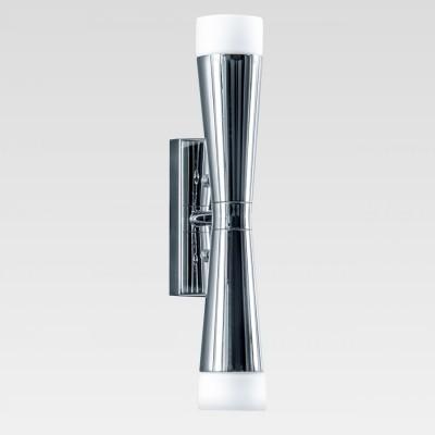 Lightstar PUNTO 807624 Светильник настенный браМодерн<br><br><br>Тип лампы: галогенная/LED<br>Тип цоколя: G9<br>Количество ламп: 2<br>Ширина, мм: 85<br>MAX мощность ламп, Вт: 7<br>Высота, мм: 305<br>Цвет арматуры: серебристый