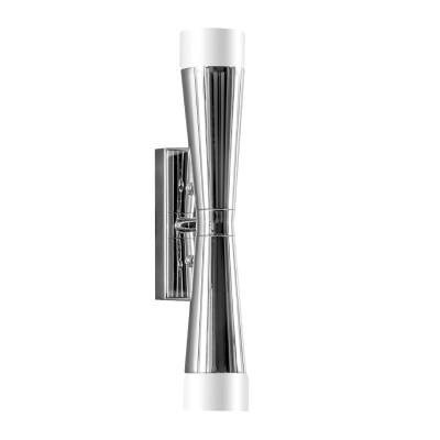 Lightstar PUNTO 807624 Светильник настенный браСовременные<br><br><br>Тип лампы: галогенная/LED<br>Тип цоколя: G9<br>Цвет арматуры: серебристый<br>Количество ламп: 2<br>Ширина, мм: 85<br>Высота, мм: 305<br>MAX мощность ламп, Вт: 7