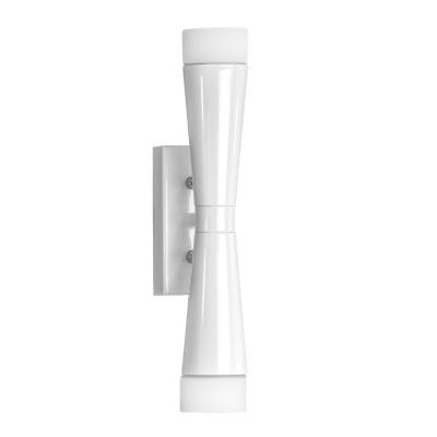Lightstar PUNTO 807626 Светильник настенный браСовременные<br><br><br>Тип лампы: галогенная/LED<br>Тип цоколя: G9<br>Количество ламп: 2<br>Ширина, мм: 85<br>MAX мощность ламп, Вт: 7<br>Длина, мм: 50<br>Высота, мм: 305<br>Цвет арматуры: белый