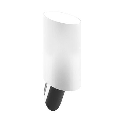 Lightstar SL 808610 Светильник настенный браХай-тек<br><br><br>S освещ. до, м2: 2<br>Крепление: настенное<br>Тип лампы: накаливания / энергосбережения / LED-светодиодная<br>Тип цоколя: E14<br>Цвет арматуры: серый<br>Количество ламп: 1<br>Ширина, мм: 110<br>Размеры: H min-max280 W110 отступ<br>Высота, мм: 200<br>Оттенок (цвет): белый<br>MAX мощность ламп, Вт: 40