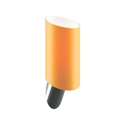 Lightstar SL 808613 Светильник настенный браХай-тек<br><br><br>S освещ. до, м2: 2<br>Крепление: настенное<br>Тип лампы: накаливания / энергосбережения / LED-светодиодная<br>Тип цоколя: E14<br>Количество ламп: 1<br>Ширина, мм: 110<br>MAX мощность ламп, Вт: 40<br>Высота, мм: 200<br>Оттенок (цвет): янтарный<br>Цвет арматуры: серебристый