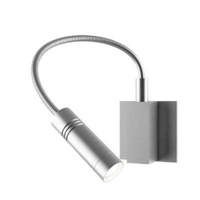 Lightstar SIMPLE LIGHT 808619 Светильник настенный браГибкие<br><br><br>S освещ. до, м2: 2<br>Крепление: настенное<br>Тип лампы: LED - светодиодная<br>Тип цоколя: LED<br>Количество ламп: 1<br>Ширина, мм: 90<br>MAX мощность ламп, Вт: 3<br>Размеры: L 90 W 90 H 350<br>Высота, мм: 350<br>Оттенок (цвет): белый<br>Цвет арматуры: серебристый