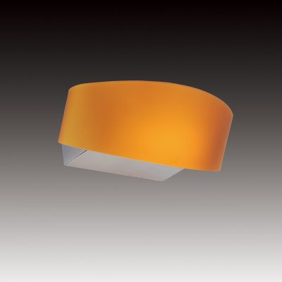 Lightstar Simple Light C 808633 Светильник настенный браХай-тек<br><br><br>S освещ. до, м2: 2<br>Тип цоколя: R7s<br>Количество ламп: 1<br>Ширина, мм: 250<br>MAX мощность ламп, Вт: 150<br>Размеры: W 250x160<br>Длина, мм: 160<br>Оттенок (цвет): янтарный<br>Цвет арматуры: серебристый