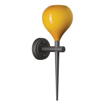 Светильник бра Lightstar 808653 Formaсовременные бра модерн<br>Высота min-max (см): 48; Ширина (см): 15; Глубина (см): 21; Вес (кг): 1,9; Кол-во ламп: 1хE14; Мощность max (W): 40; Цвет основания/цвет стекла или абажура: black/yellow;