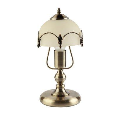 Настольная лампа Colosseo 80902/1T RomoloДекоративные<br>Изысканная лампа Colosseo 80902/1T Romolo бронза станет украшением не только в «домашнем» интерьере, но и в  респектабельном офисном! Прочное широкое основание сохранит ее от случайных толчков и падений, матовый белый плафон создает мягкое, комфортное для зрения освещение, а в сочетании с элегантным «бронзовым» оттенком арматуры, лампа всегда будет привлекать к себе внимание и восхищенные взгляды Ваших гостей, коллег и партнеров по работе!<br><br>S освещ. до, м2: 4<br>Тип лампы: накал-я - энергосбер-я<br>Тип цоколя: E27<br>Количество ламп: 1<br>MAX мощность ламп, Вт: 60<br>Диаметр, мм мм: 180<br>Высота, мм: 340<br>Цвет арматуры: бронзовый