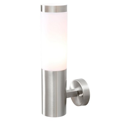 Светильник влагозащищенный Mw light 809020401 ПлутонНастенные<br>Описание модели 809020401: Светильник из коллекции «Плутон» предназначен для уличного освещения. Он прекрасно украсит обстановку экстерьера загородного дома. Основание выполнено из надежной стали и гармонично сочетается с плафоном из матового акрила. Цилиндрическая форма и дизайн визуально разделяют светильник на две половины и делают его особенно интересным. Рекомендуемая площадь освещения 2 кв.м.<br><br>S освещ. до, м2: 2<br>Тип лампы: накаливания / энергосбережения / LED-светодиодная<br>Тип цоколя: Е27<br>Цвет арматуры: серебристый<br>Количество ламп: 1<br>Ширина, мм: 80<br>Длина, мм: 330<br>Высота, мм: 140<br>Поверхность арматуры: глянцевый<br>MAX мощность ламп, Вт: 40<br>Общая мощность, Вт: 40