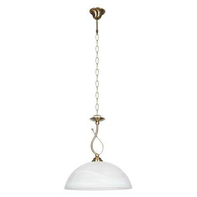 Светильник Colosseo 80916/1AОдиночные<br>Подвесной светильник Colosseo 80916/1A по праву займет достойное место в Вашем доме! Элегантный облик, состоящий из подвесной части в виде цепи, украшенной декоративными элементами и белого матового плафона, станет прекрасным дополнением любой комнаты с высоким потолком, оформленной в классическом стиле.<br><br>S освещ. до, м2: 4<br>Крепление: на крюк<br>Тип лампы: накаливания / энергосбережения / LED-светодиодная<br>Тип цоколя: E27<br>Количество ламп: 1<br>MAX мощность ламп, Вт: 60<br>Диаметр, мм мм: 320<br>Высота, мм: 380-750<br>Оттенок (цвет): бронзовый<br>Цвет арматуры: серый