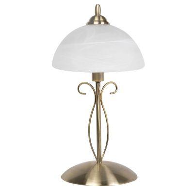 Настольная лампа Colosseo 80916/1TКлассические<br>Настольная лампа Colosseo 80916/1T – великолепный образец современной классики! Каждая деталь в ней тщательно продумана и гармонично сочетается с остальными. Притягивает к себе взгляд и белый матовый плафон, создающий комфортное для зрения освещение, и оригинальная «бронзовая» арматура. Подключение лампы не займет у Вас больше минуты, а при необходимости, ее в любой момент можно перенести в любое другое место.<br><br>S освещ. до, м2: 4<br>Тип лампы: накал-я - энергосбер-я<br>Тип цоколя: E27<br>Количество ламп: 1<br>MAX мощность ламп, Вт: 60<br>Диаметр, мм мм: 250<br>Высота, мм: 450<br>Оттенок (цвет): бронзовый<br>Цвет арматуры: бронзовый