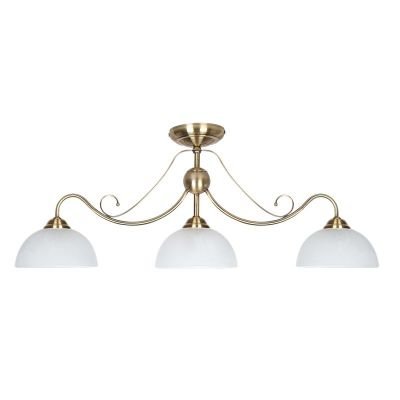 Люстра Colosseo 80916/3Cлюстры потолочные прованс<br>Три белых матовых плафона люстры Colosseo 80916/3C создают мягкое, комфортное для зрения освещение всего пространства комнаты площадью до двенадцати кв.м. В сочетании с «золотым» оттенком арматуры, она станет идеальным решением освещения гостиной, спальни, кухни. Можно дополнить ее настенными бра и настольной лампой из этой же серии, тогда все источники света будут выглядеть цельными и гармоничными, делая интерьер по-дизайнерски профессиональным и совершенным. Рекомендуем в качестве основных цветов комнаты использовать похожие оттенки с добавлением не более двух-трех контрастных тонов для акцента на аксессуарах.<br><br>Установка на натяжной потолок: Да<br>S освещ. до, м2: 12<br>Крепление: Планка<br>Тип лампы: накаливания / энергосбережения / LED-светодиодная<br>Тип цоколя: E27<br>Цвет арматуры: серый<br>Количество ламп: 3<br>Ширина, мм: 250<br>Длина, мм: 810<br>Высота, мм: 315<br>Оттенок (цвет): бронзовый<br>MAX мощность ламп, Вт: 60