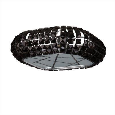 Люстра Colosseo 80931/5CПотолочные<br>Каждый хозяин хочет, чтобы его дом приятно удивлял гостей своим необычным, стильным и запоминающимся интерьером. Потолочная люстра Colosseo 80931/5C полностью соответствует вышесказанному! Уникальное гармоничное сочетание тонированного черного хрусталя и элегантной квадратной формы с закругленными углами создает потрясающую объемную, но в то же время, «воздушную» форму, которая будет выигрышно смотреться в любых небольших по площади помещениях (до 13 кв.м.).<br><br> Благодаря своим компактным размерам, светильник зрительно увеличит пространство и высоту потолка, что, безусловно, является еще одним его достоинством. Люстру Colosseo 80931/5C достаточно популярная модель.<br><br>Установка на натяжной потолок: Ограничено<br>S освещ. до, м2: 13<br>Крепление: Планка<br>Тип товара: люстра<br>Тип лампы: галогенная / LED-светодиодная<br>Тип цоколя: G9<br>Количество ламп: 5<br>MAX мощность ламп, Вт: 40<br>Длина, мм: 430<br>Высота, мм: 150<br>Оттенок (цвет): черный<br>Цвет арматуры: серебристый